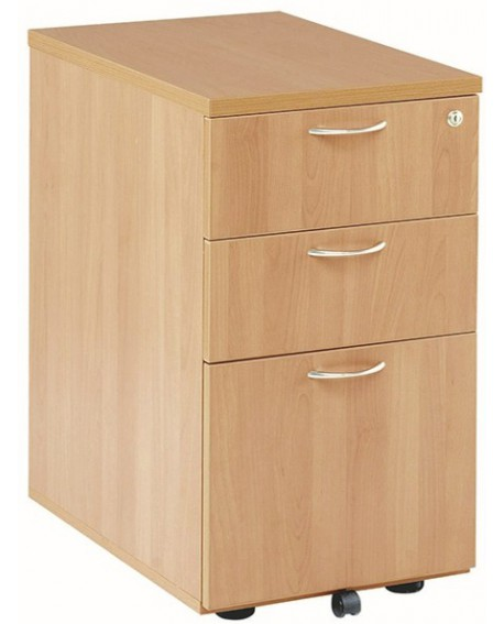 Jemini 3 Drawer Desk High Pedestal