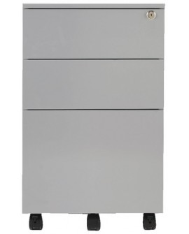 Jemini Mobile Steel 3 Drawer Pedestal