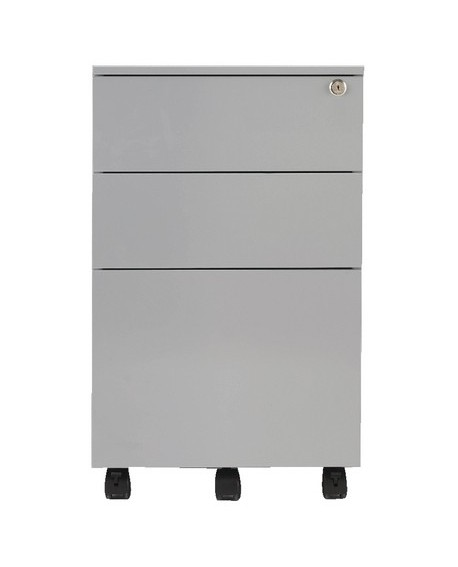 Jemini Mobile Steel 3 Drawer Pedestal
