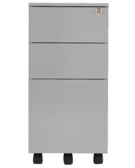 Jemini Mobile Steel 3 Drawer Slimline Pedestal