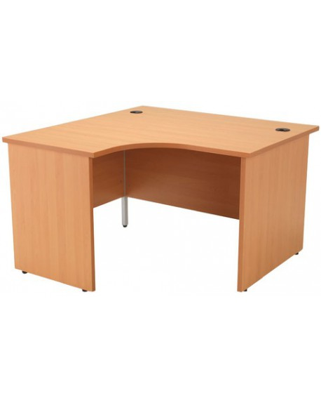 Jemini Panel End Radial Desk