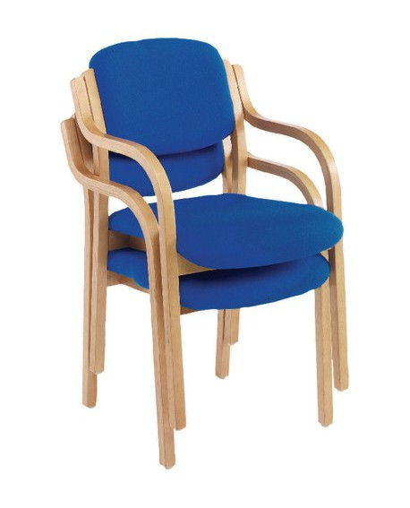 Jemini Wood Frame Side Chair With Arms