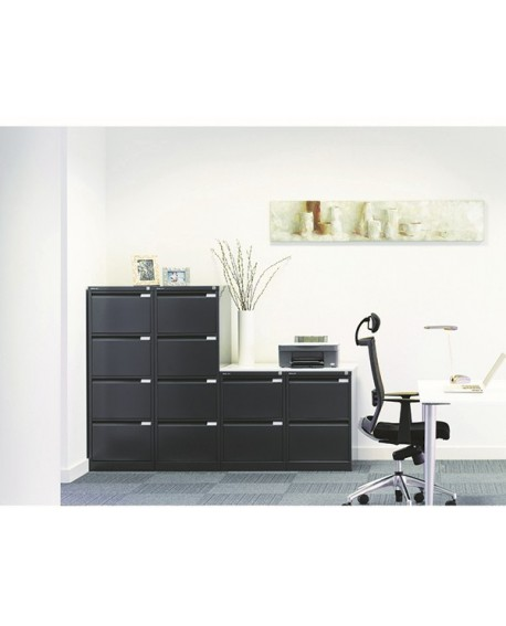 Bisley 2 Drawer lockable Flush Fronted Filing Cabinet
