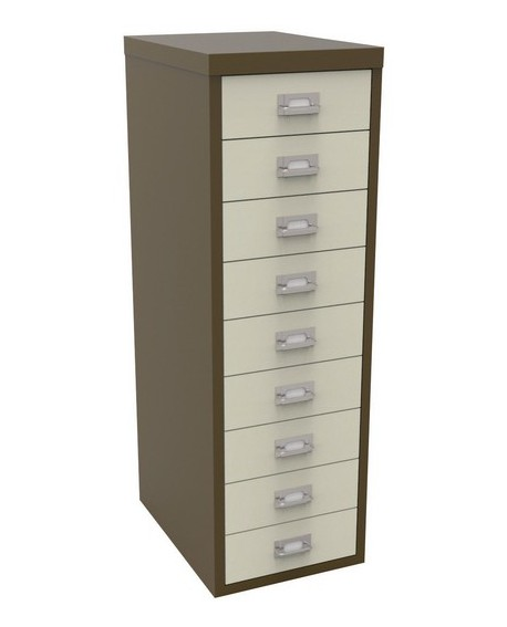Bisley 9 Drawer Non-Locking Multi-Drawer Cabinet