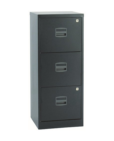 Bisley A4 3 Drawer Lockable Personal Filing Cabinet