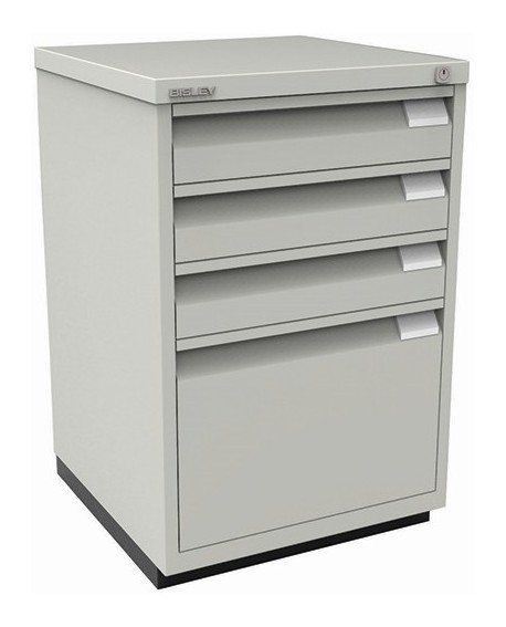 Bisley 3+1 Lockable Flush Fronted Filing Cabinet