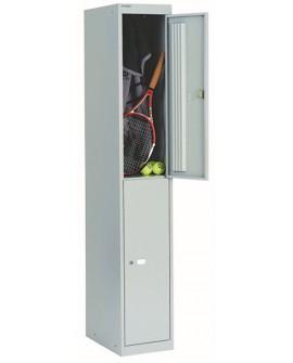 Bisley 2 Door Locker Goose Grey Locker