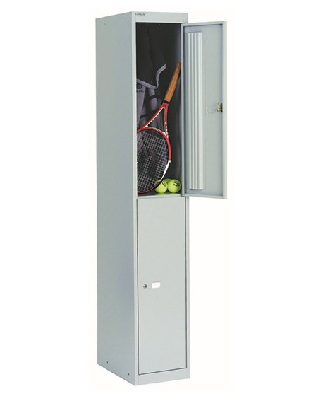 Bisley 2 Door Locker Goose Grey Locker