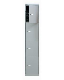Bisley 4 Door Locker Goose Grey Locker