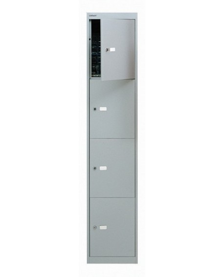 Bisley 4 Door Locker Goose Grey Locker
