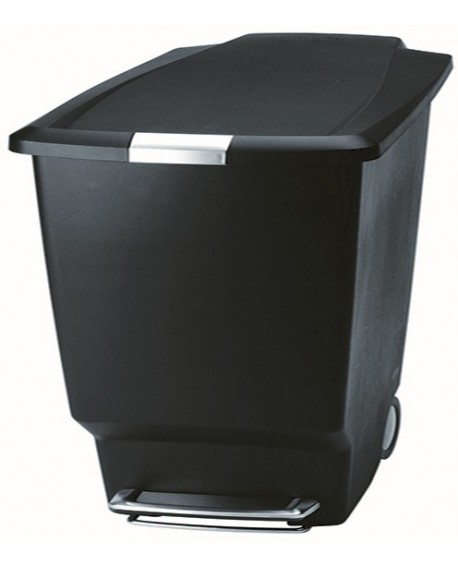 Slim 40 Litre Plastic Pedal Bin