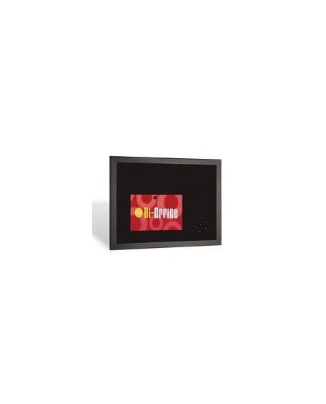 Bi-Office Black Softouch Surface Notice Board FB0736169