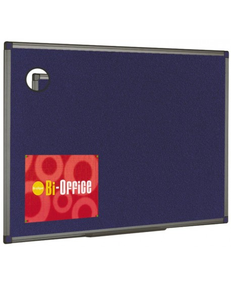 Bi-Office Blue Aluminium Finish Felt Notice Board 900x600mm FB0743186