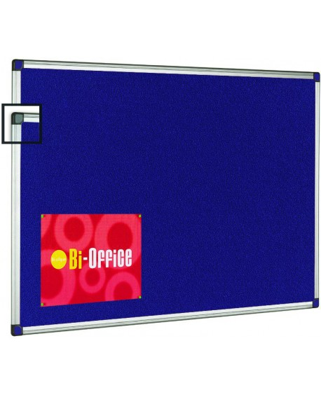 Bi-Office Aluminium Trim Felt Notice Board 900x600mm FA0343170