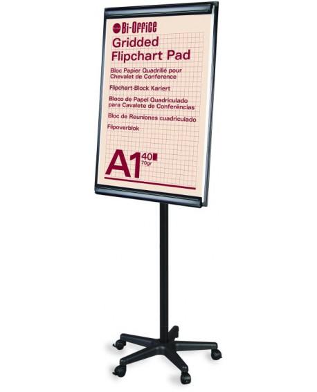 Bi-Office Frameless Mobile Magnetic Flipchart Easel 900x600mm EA6700115