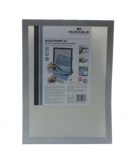 Durable A4 Silver Duraframe (Pack of 2) 4872/23