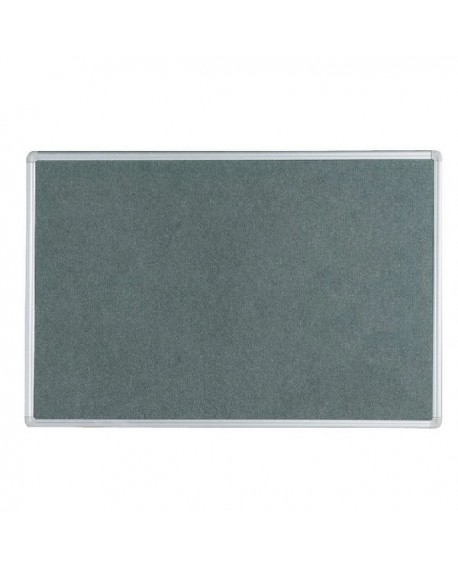 Q-Connect 900x600mm Aluminium Frame Grey Notice Board 9700025