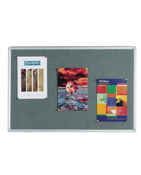 Q-Connect 1200x900mm Aluminium Frame Grey Notice Board 9700026