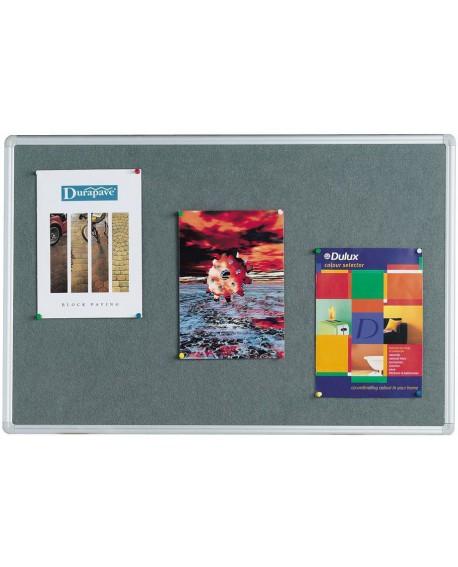 Q-Connect 1800x1200mm Aluminium Frame Grey Notice Board 9700027