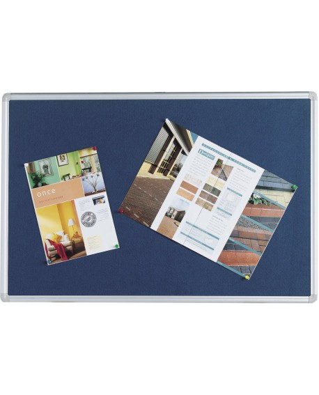 Q-Connect 1200x900mm Aluminium Frame Blue Notice Board 9700029