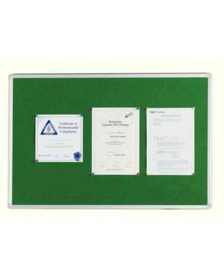 Q-Connect 1800x1200mm Aluminium Frame Green Notice Board 54034205