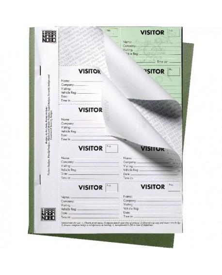 Nobo 25 Page Visitors Badge Slip Book