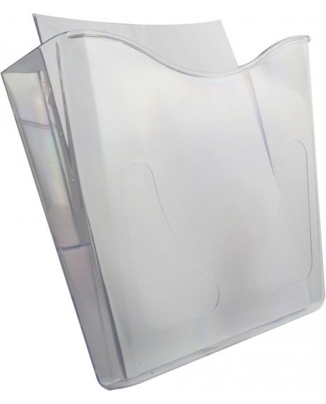 Deflecto Crystal Portrait A4 Literature Holder CP078YTCRY
