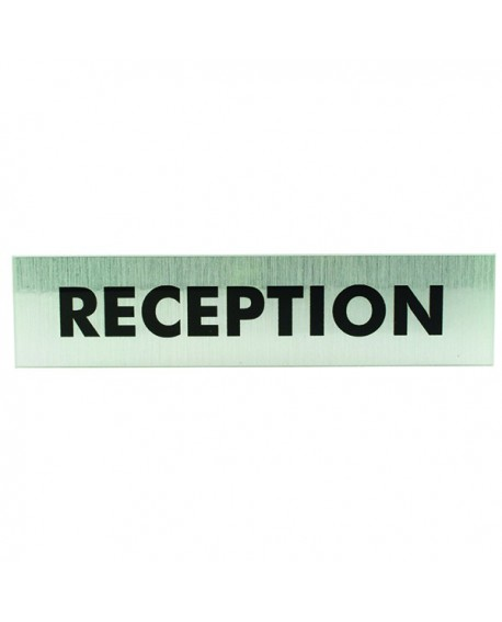 Acrylic Sign Reception Aluminium 190x45mm SR22364