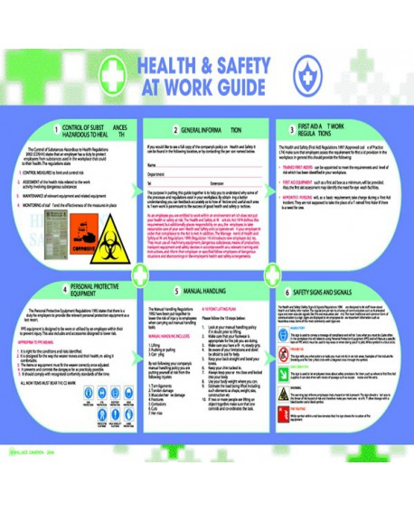Wallace Cameron Health And Safety Poster Health And Safety At Work