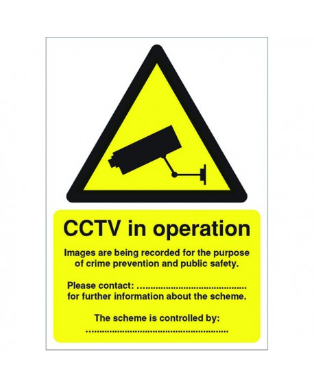 Warning Sign Data Protection Act Compliant Self-Adhesive Sign A5 DPACCTVS