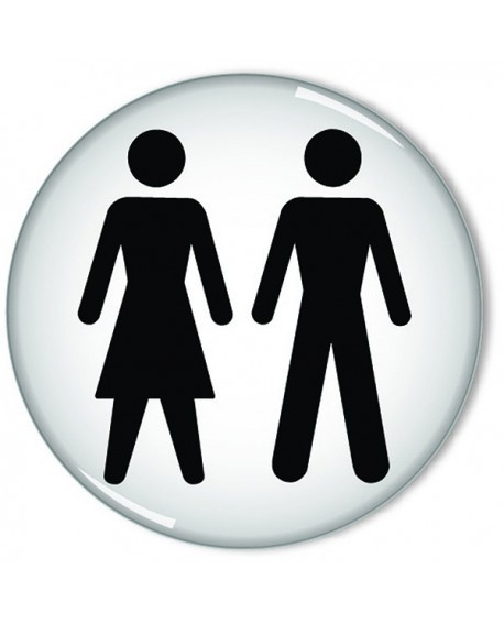 Domed Sign Women And Men Symbol 60mm Rds3 Only 400 Ofpdirect