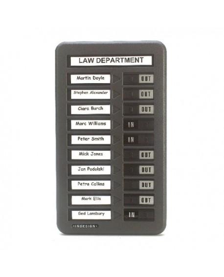 Indesign Grey In/Out Board Single Column 10 Names WPIT10I
