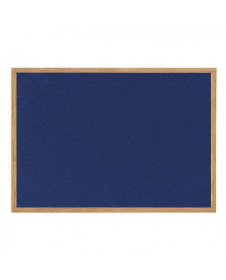 Bi-Office Earth-it Felt Notice Board 900x600mm Blue RFB0743233