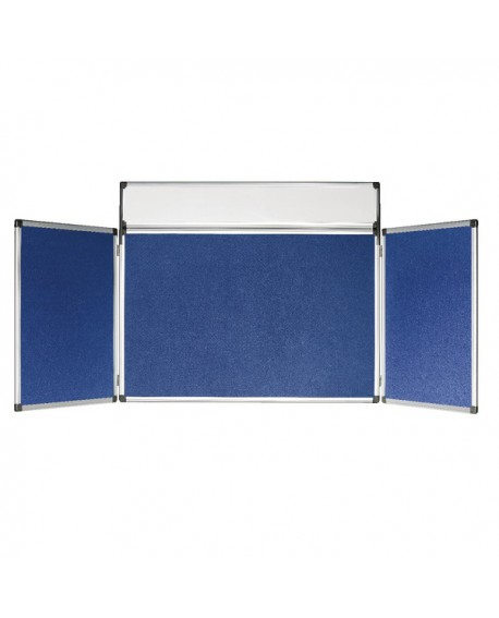 Bi-Office 4 Panel Mini Display Kit Blue DSP350111