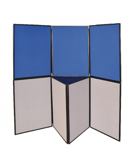 Q-Connect Display Board 6 Panel Blue /Grey DSP330516