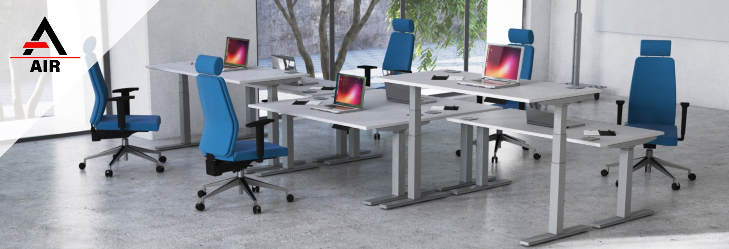Air Height-Adjustable Desks